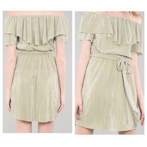 Sage Soft Pleat Dress
